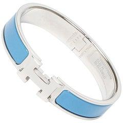 Hermes Bracelet Clic H Light Blue