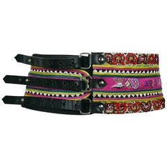 Christian Lacroix Vintage Ethnic Inspired Wide High Waist Belt