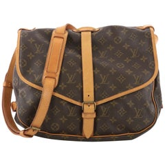 Louis Vuitton Saumur Handbag Monogram Canvas GM