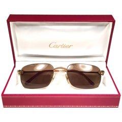 New Cartier Temper 54mm Brushed 18k Gold Sunglasses France
