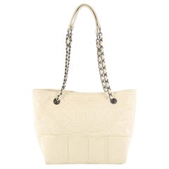 Chanel Shopping In Moscow Tote Quilted Distressed Leather Small