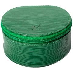 Louis Vuitton Green  Epi Leather Jewelry Case