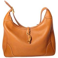 Hemes Gold Togo Trim Handbag with Gold Hardware - 35 cm