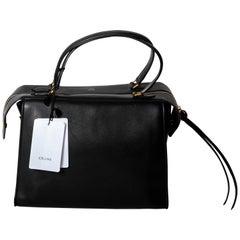 Celine Black Leather Ring Bag