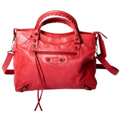 Balenciaga Classic City Bag in Red