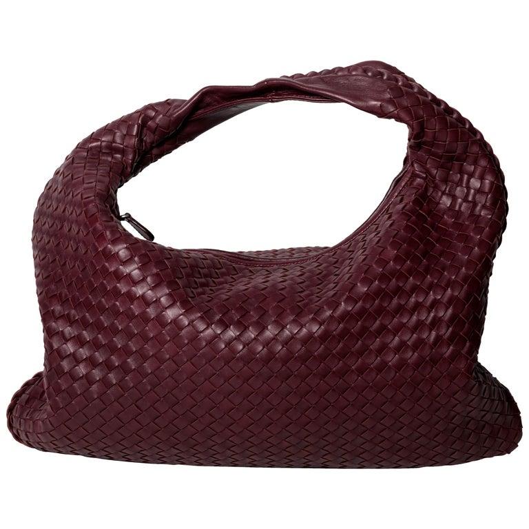 Dark Barolo Intrecciato Nappa Large Veneta Bag