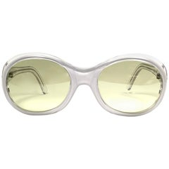 New Vintage Christian Roth Translucent & White Hand Made In Italy Sunglasses