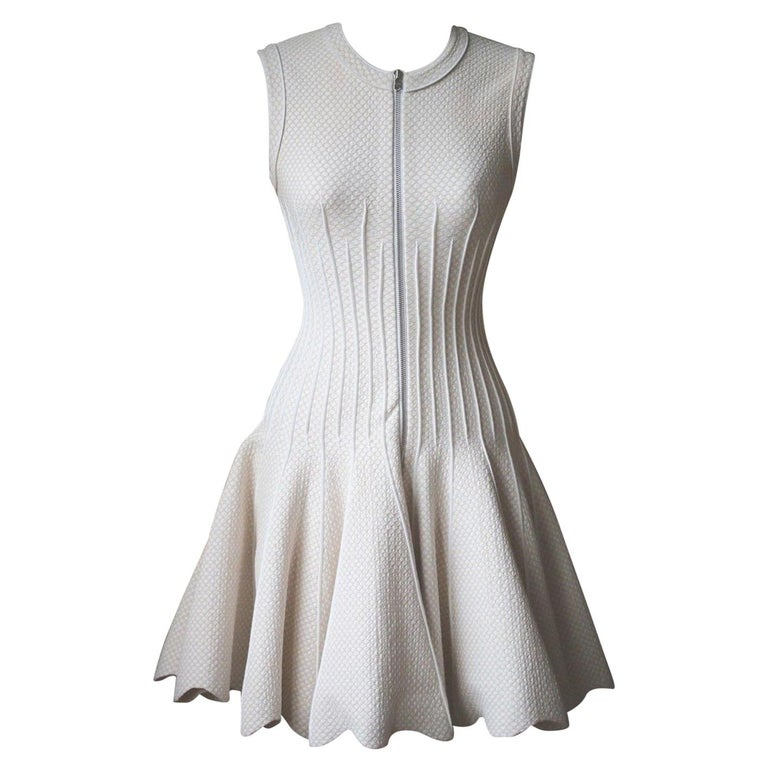 33514f550e4 Azzedine Alaia Zip Front Jacquard Dress For Sale at 1stdibs