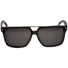Christian Dior Homme Textured Tortoise Shell With Silver Hardware Sunglasses