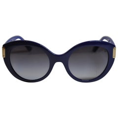 Gianni Versace Thick Bold Lapis With Gilded Gold Hardware Sunglasses
