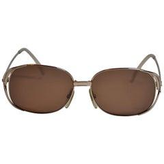 "Christian Dior Wonderful ""Swirls"" of Polished Gilded Gold Hardware Sunglasses"