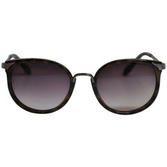 Vivienne Westwood Dark Tortoise Shell Accented with Silver Hardware Sunglasses