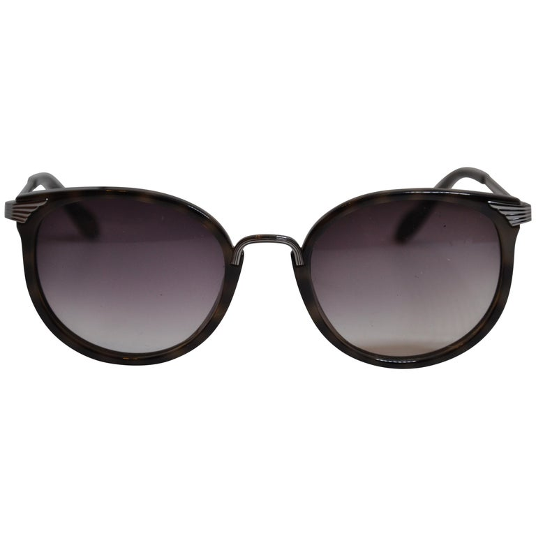 8c7dfff2bb7 Vivienne Westwood Dark Tortoise Shell Accented with Silver Hardware  Sunglasses For Sale