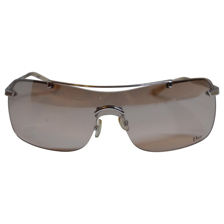4871d75d8ad Christian Dior Etched Silver Hardware Sunglasses For Sale at 1stdibs