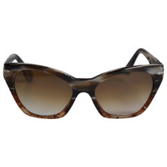 Persol Handmade Warm Tortoise Shell with Polished Gold Hardware Sunglasses