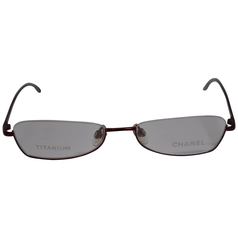 Chanel Titanium Iridescent Cranberry-Red Weightless Reading Glasses