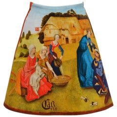 "Carven Velvet Skirt Inspired by Hieronymus Bosch's ""Garden of Earthly Delights"""
