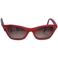 Christian Dior Iridescent Candy-Apple-Red / Fuchsia Lucite Prescription Sunglass