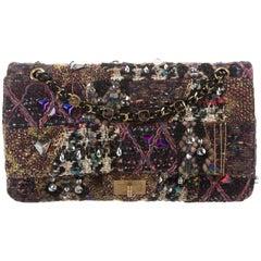 Chanel New Tweed Multi Color Crystal Bead Reissue Shoulder Flap Bag