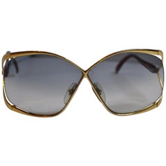 Christian Dior Signature Gilded Gold Hardware / Candy-Red Prescription Sunglass