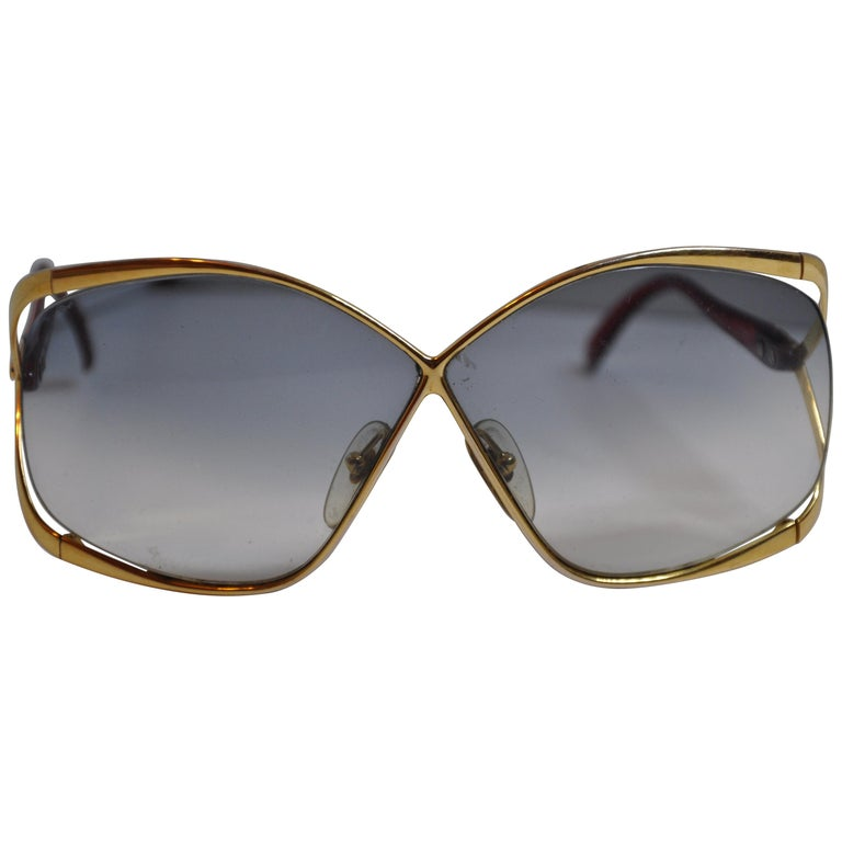 ca3ace1be38 Christian Dior Signature Gilded Gold Hardware   Candy-Red Prescription  Sunglass For Sale