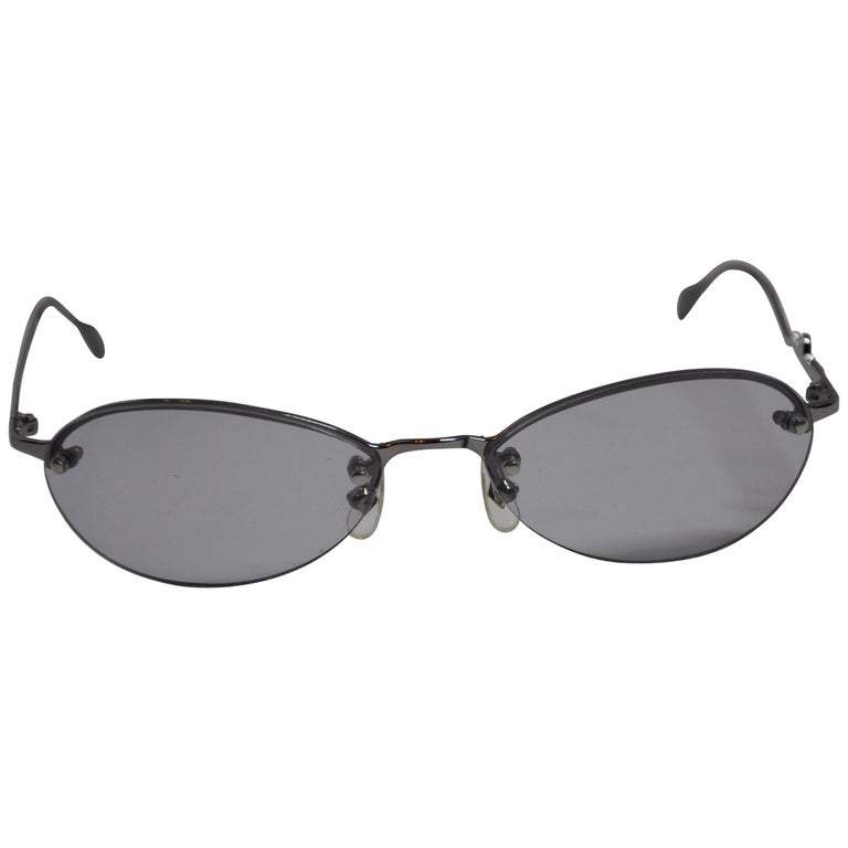 Jean Paul Gaultier Signature Arms Gilded Silver Hardware Glasses For Sale