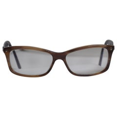 Christian Dior Warm Tortoise Shell Lucite Accented with Corner Studs Glasses