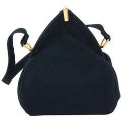 Navy Suede 1940s Handbag
