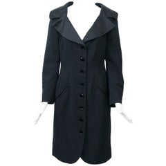 Jean Louis Scherrer Black Coatdress