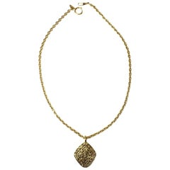 CHANEL Couture Vintage Necklace in Gilt Metal