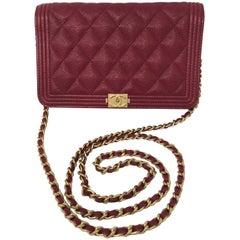Chanel Red WOC Caviar Crossbody