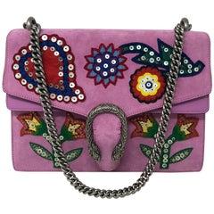Gucci Dionysus Medium Beaded Heart and Flowers Pink Shoulder Bag