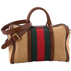 Gucci Vintage Web Boston Bag Canvas Medium