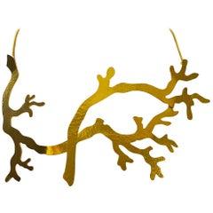 Herve van der Straten Gilded Branch Necklace