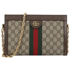 Gucci Ophidia Chain Shoulder Bag GG Coated Canvas Small