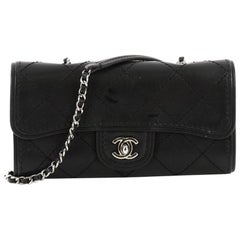 Chanel Citizen Chain Clutch Quilted Calfskin Small