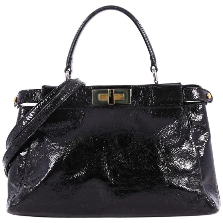 0ab1fe855999 Fendi Peekaboo Handbag Patent Regular For Sale at 1stdibs