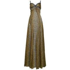 D&G by Dolce & Gabbana Leopard Lace Slip Gown