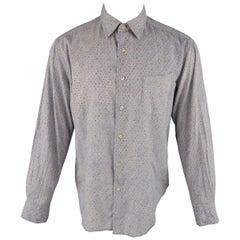 45rpm Size M Blue & Red Floral Print Cotton Long Sleeve Shirt