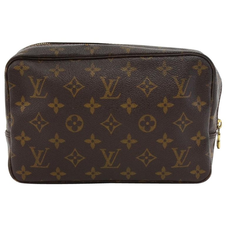 louis vuitton trousse toilette 23 monogram canvas cosmetic pouch at 1stdibs