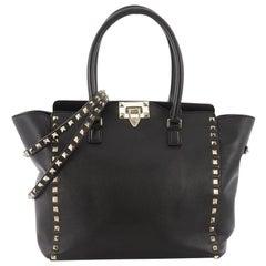 Valentino Rockstud Tote Rigid Leather Medium