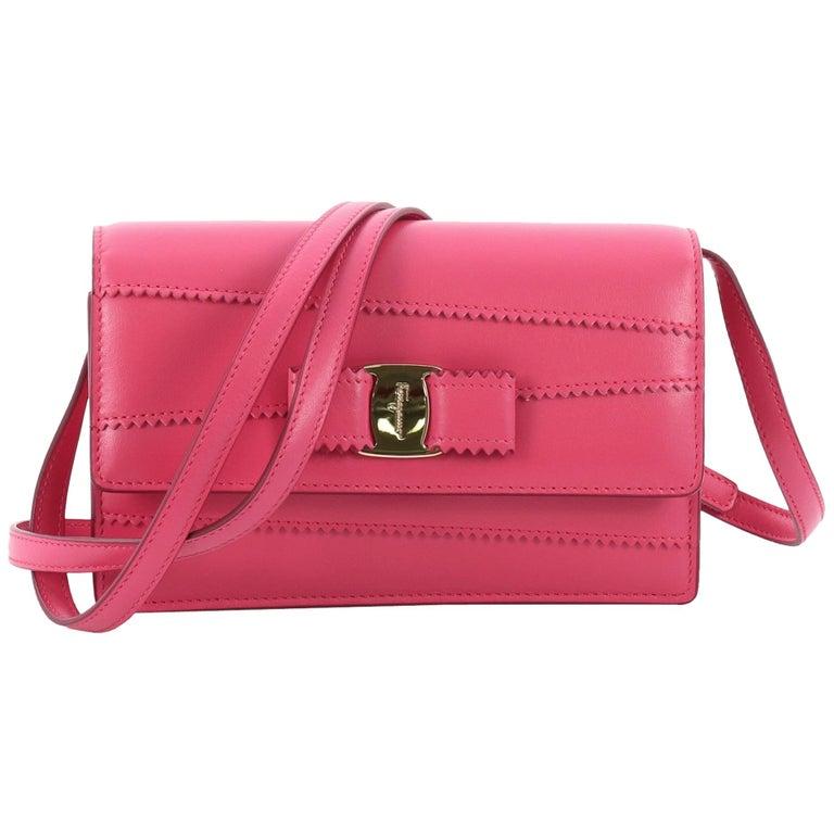 80f3815e8f Salvatore Ferragamo Ginny Crossbody Bag Stitched Leather Mini For Sale at  1stdibs