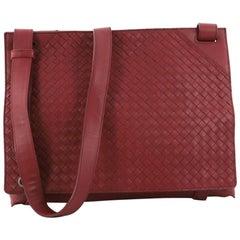 Bottega Veneta Square Panelled Messenger Bag Intrecciato Nappa Large