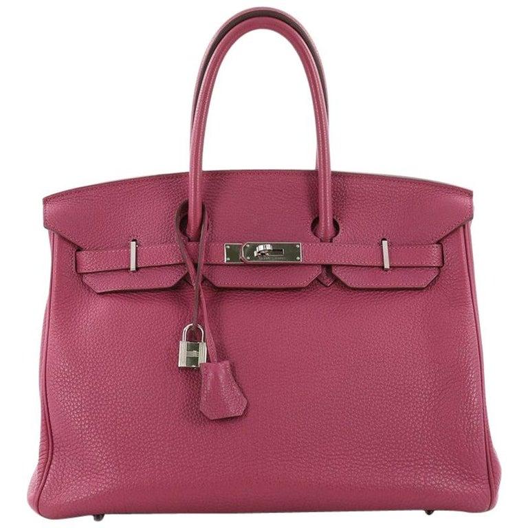 b79e033de3 Hermes Birkin Handbag Tosca Togo with Palladium Hardware 35 For Sale ...