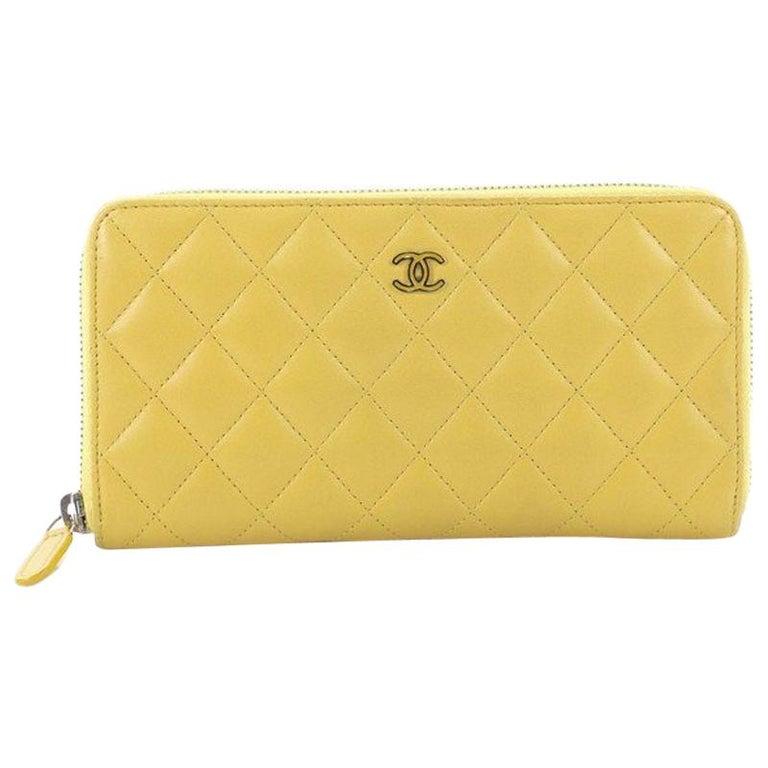 50a30d65de6d Chanel Zip Around Wallet Quilted Lambskin Long at 1stdibs