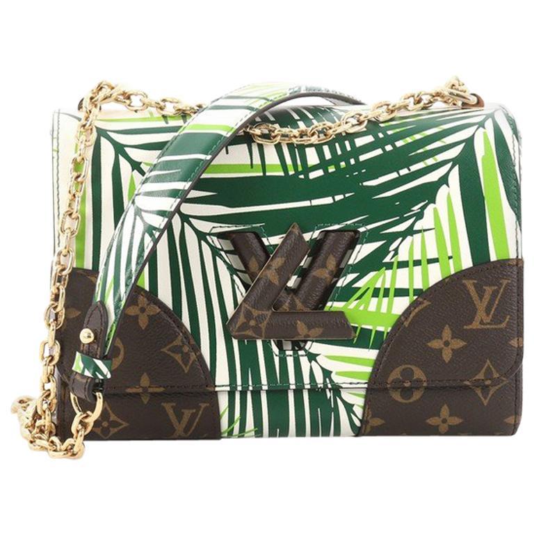 8703d7a6cb4a Louis Vuitton Twist Handbag Limited Edition Palm Print Leather For Sale