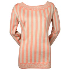 1992 AZZEDINE ALAIA striped tunic sweater