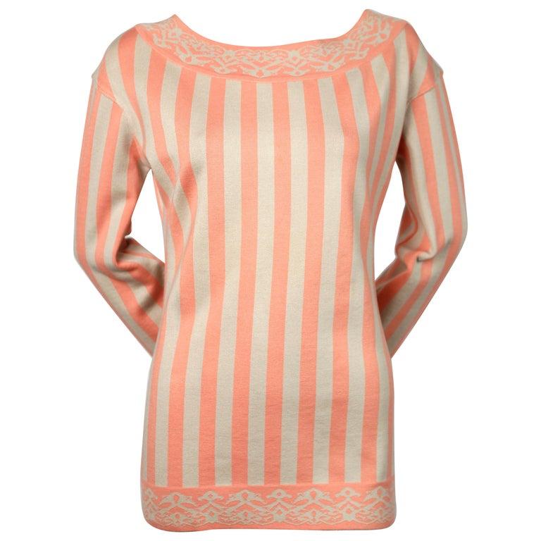 1992 AZZEDINE ALAIA striped tunic sweater