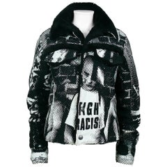 Jean Paul Gaultier Vintage Fight Racism Newspaper Print Graphic Jacket