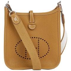 2013 Hermes Kraft & White Clemence Leather Evelyne III TPM Amazone